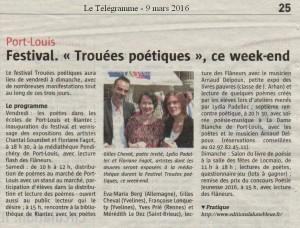 Festival TP16 le Télégramme 9 mars