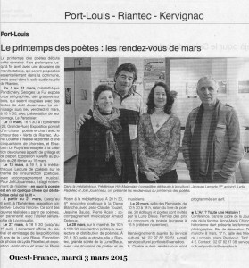 ouest france 3 mars 15