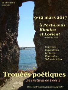 Affiche Festival Trouées poétiques 2017
