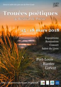 Affiche Festival Trouées poétiques 2018